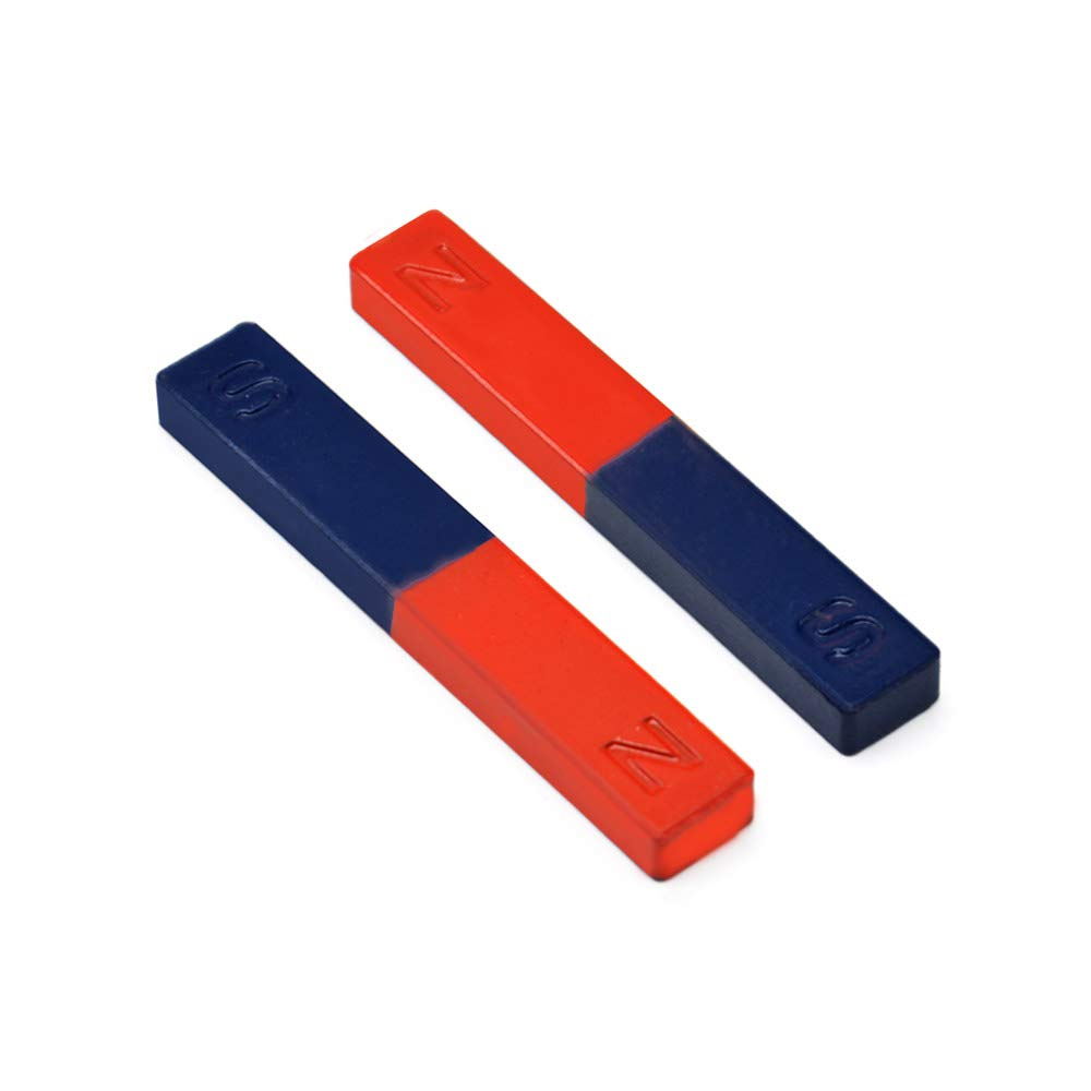 Educational Long Alnico Bar Magnet Small with North South Identified for Students Teachers Science Education 2Pcs