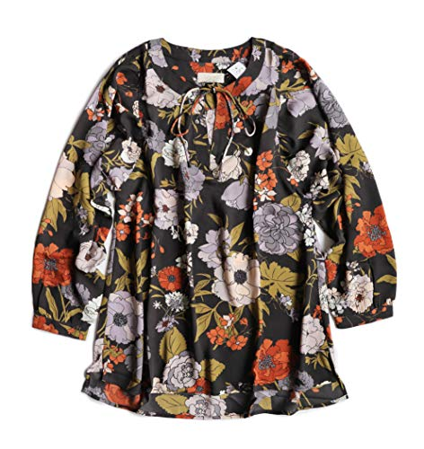 Ann Taylor LOFT Outlet Women's Oversized Retro Floral Tunic Blouse (Small) from Ann Taylor LOFT Outlet
