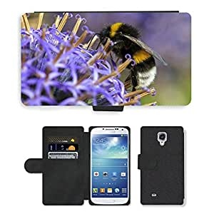 Hot Style Cell Phone Card Slot PU Leather Wallet Case // M00109492 Macro Bug Bee Close Up Insects // Samsung Galaxy S4 S IV SIV i9500