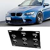 iJDMTOY Euro Style Front Bumper Tow Hole Adapter License Plate Mounting Bracket For BMW E82 E88 128i 135i 1M E39 E90 E91 E92 E93 328i 335i M3 X5 X6, etc