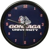 NCAA Gonzaga University Official Black Rim Basic Clock, Multicolor, One Size
