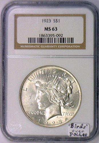 1923 No Mintmark Peace Dollar MS-63 NGC