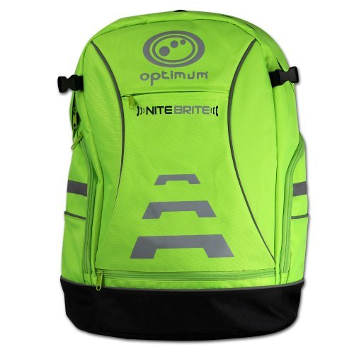 OptimumバイクバックパックNitebrite 20リットルグリーン( Fluo Green ) CNBBP by Optimum B01LFLLBK0
