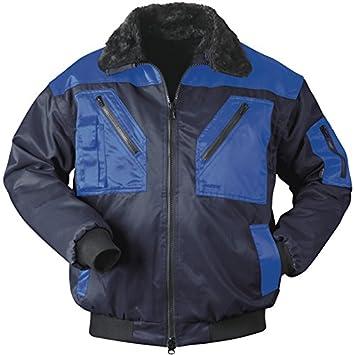 Piloten-Jacke 4 in 1 - Kragenfutter und Ärmel abtrennbar - marine/royalblau  -