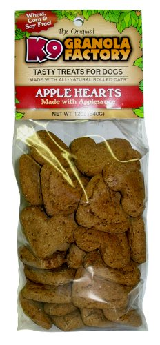 K9 Granola Factory Low Fat Apple Hearts with Applesauce Crunchers by K9 Granola Factory
