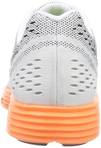 Nike Womens Lunar Tempo Scarpe Da Corsa Bianco / Arancio Totale / Gioco Reale / Nero