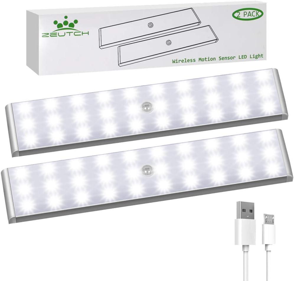 Best adjustable brightness: Zeutch [30 LED] Homelife Motion Sensor LED Light (1000 mAh)