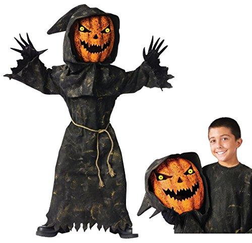 Bobble Head Pumpkin Child Costume (Child Bobble head Pumpkin Costume - Medium (8-10))