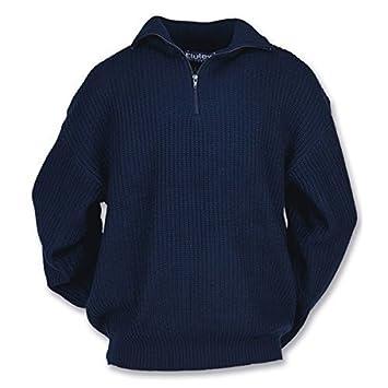 L Airsoft Troyer-Pullover mit Reißverschluss marine Gr
