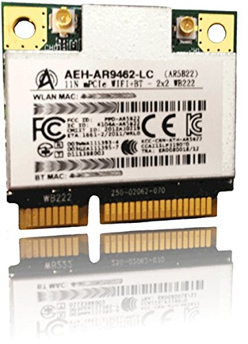AIRETOS AEH-AR9462-LC Combo WiFi & Bluetooth 4.0 module, 802.11abgN Dual Band, 2T/2R Mini PCI-Express Half-Size Module, Atheros AR9462 chipset - Reference Design WB222 (Qualcomm Antenna Adapters)