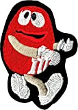 Red M&M Candy Sew Iron On Patch/Applique