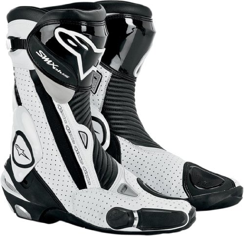 Alpinestars SMX Plus Vented Boots , Gender: Mens/Unisex, Distinct Name: Black/White, Primary Color: White, Size: 12.5 2221013-122-48