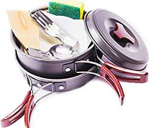 Amazon.com : Camping Cookware Mess Kit Outdoors Bug Out