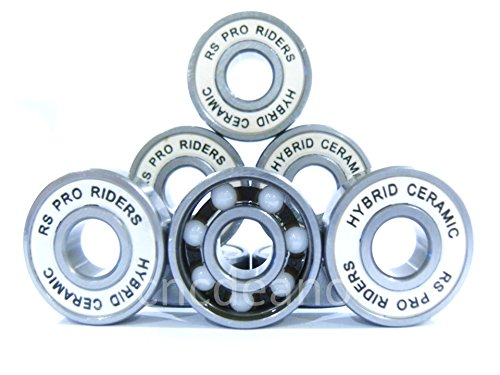 16 X PREMIUM CERAMIC 608 2RS (8 x 22 x 7mm WIDTH) RS PRO RIDERS INLINE QUAD ROLLER SKATE HOCKEY DERBY SKATEBOARD STUNT SCOOTER WHEEL BEARINGS ABEC 9 16XRSCER