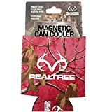 magnetic beer koozie - Realtree Camo Graphics Brand Logo Sports Drink Beer Water Soda Beverage Can Insulated Picnic Outdoor Party Beach BBQ Kooler Can Cooler - 12oz Magnetic Pink Cover