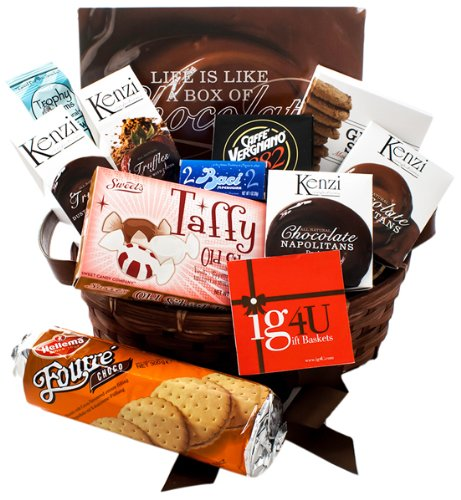 Ig4U Decadent Chocolate and Cookies Gift Basket, 3 Pound