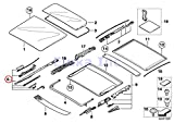BMW Genuine Panoramic Roof Sunroof Repair Kit For Sunroof...