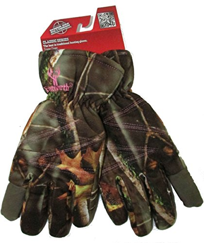 Women's Insulated Classic Cold Weather Camo Ladies Hunting Glove (Large)