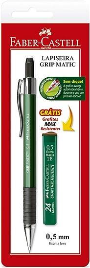 Lapiseira Grip Matic Metal 0.5mm Com Grafite, Faber-Castell, Verde