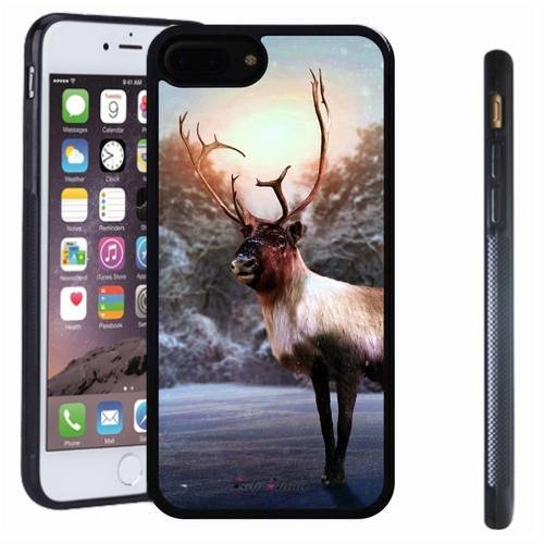 iphone 7 8 Plus case, SoloShow(R) Slim Shockproof TPU Soft Case Rubber Silicone for Apple iphone 7 8 Plus [Clever deer] -