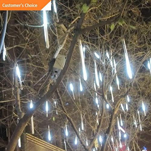 Hebel 8 Tubes 30cm 18 LED Meteor Shower Rain Lights Tube Lamp Waterproof WHI | Model DCRTVBLL - 208 |