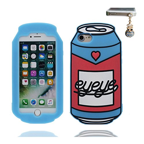 """iPhone 6 Coque (4.7"""") , [ TPU Flexible canette ] Étui pour iPhone 6S (4.7""""), iPhone 6 Case, Dust Slip Scratch Resistant et Bouchon anti-poussiè"""