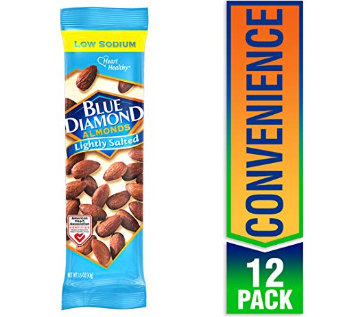 Blue Diamond Almonds, Lightly Salted, 1.5 Ounce (Pack of 12)
