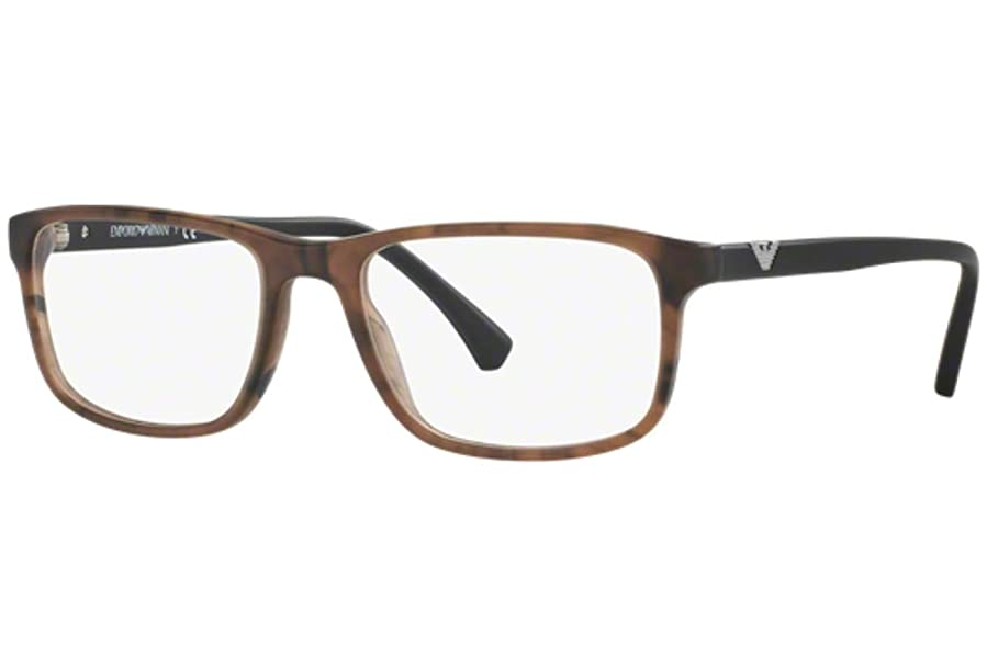 Armani EA3098 Eyeglass Frames 5548-Matte Striped Brown at Amazon ...