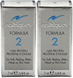 Nailtiques Formula 2 Nail Protein Treatment (1/4 oz/7 ml.) Each Bottle (PACK Of 2 bottles)
