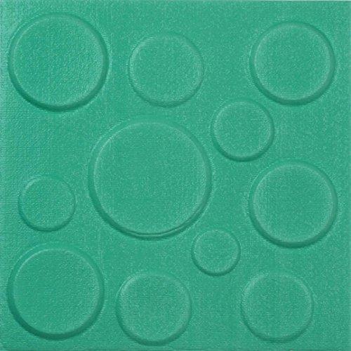 Embossed Blue Circles (XUANOU PE Foam 3D DIY Wall Stickers Wall Decor Circle Pattern Embossed Brick Stone (Blue))