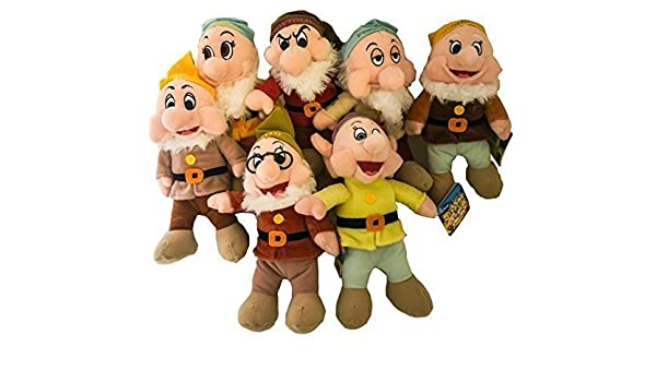 THE SEVEN DWARFS Complete Set 7 different PLUSH 25cm Disney ...