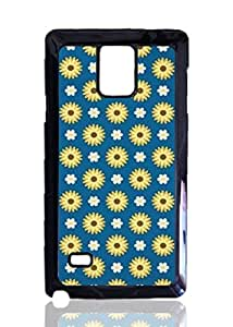 Classical Flowers Pattern Custom Hard Plastic back Phones Case for Samsung Galaxy Note4 - Galaxy Note 4 Case Cover