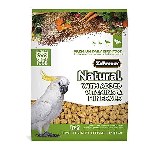 ZuPreem Natural Large Bird Food, 3-Pound