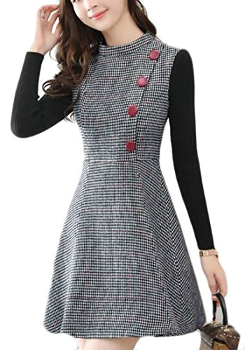 houndstooth wool dress - 1