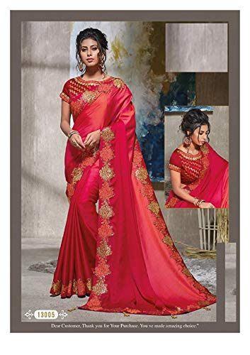Seta Firmata Raso Etnico Design Saree Bollywood Fresco Di Lavoro Abbigliamento Camicetta Pesante Dress Con In 7281 Indian Sari Indiano qIvS6