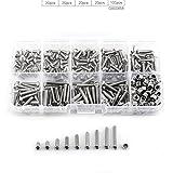 280pcs M3 Stainless Steel SS304 Hex Socket Button Head Screws Locknuts Assortment Kit with Storage Box