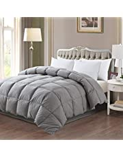 ELNIDO QUEEN Down Feather Comforter with 100% Cotton Cover