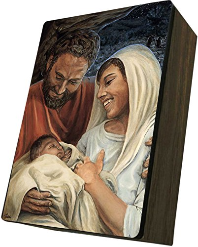 Catholic to the Max|Nativity Jason Jenicke 4x6.5x2.5in Wooden Keepsake Rosary Jewelry Box, Suede Matte by Catholic to the Max