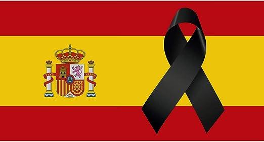 Oedim Bandera de España con Crespón   Medidas 85x150 cm   Textil Bandera de España con Crespón   Bandera con 4 Ojales Metálicos   Resistente al Agua: Amazon.es: Hogar