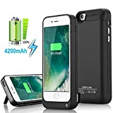 Yellowknife Certified Battery Case iPhone 5C/SE/5S/5 [4200mAh] Built in USB Power Bank Protective