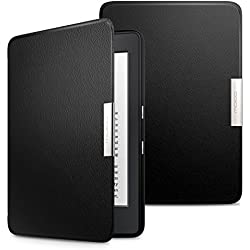 MoKo Case for Kindle Paperwhite, Premium Ultra Lightweight Shell Cover with Auto Wake / Sleep for Amazon All-New Kindle Paperwhite (Fits All 2012, 2013, 2015 and 2016 Versions), BLACK