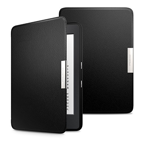 MoKo Case for Kindle Paperwhite, Premium Ultra Lightweight Shell Cover with Auto Wake/Sleep Fits All Paperwhite Generations Prior to 2018 (Will not fit All-New Paperwhite 10th Generation), Black