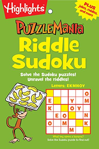 Riddle Sudoku: Solve the Sudoku puzzles! Unravel the riddles! (Highlights Puzzlemania Puzzle Pads) - Travel Puzzle Pad
