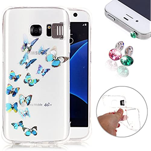 Samsung Galaxy S7 Case, Galaxy S7 Case Cover, Soft TPU Flash Function Anti-Scratch Back Protective Case, Clear Sales