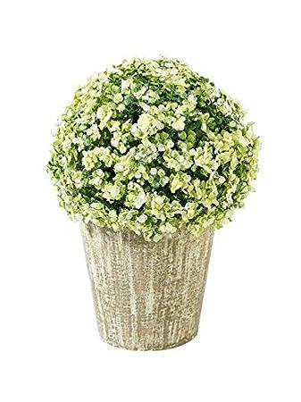 Klocke Deko pflanze künstlich kleine kunstpflanze deko blütenkugel im grauen