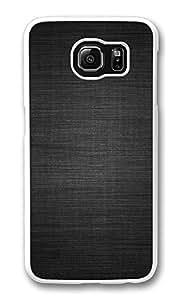 VUTTOO Rugged Samsung Galaxy S6 Edge Case, Gray Linen Dark Texture Hardshell Case for Samsung Galaxy S6 Edge PC White