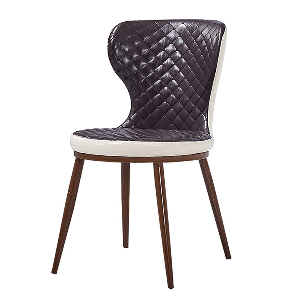 Lrzs furniture postmodern simple nordic creative chair restaurant negotiate back leather beautiful makeup chair home designer desk and chair color black