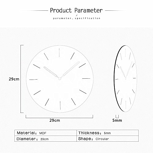 FlorLife Silent Wall 12 Inch Movement Clock, Decorative for Kitchen, Living Bathroom,