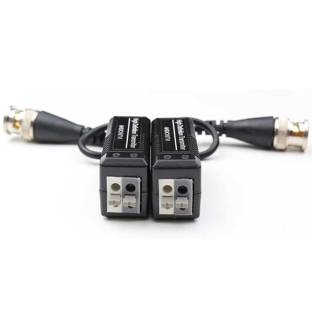 ANHAN Passive Video Balun Transmitter for Camera CCTV System BNC Connector to UTP Cat5e//6 Transceiver Twisted Pairs Network Adapter 2 Pairs 3216562999