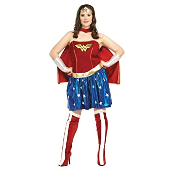 18daa02e951157 Generique - Déguisement Wonder Woman Femme Grande Taille XXL  Amazon ...
